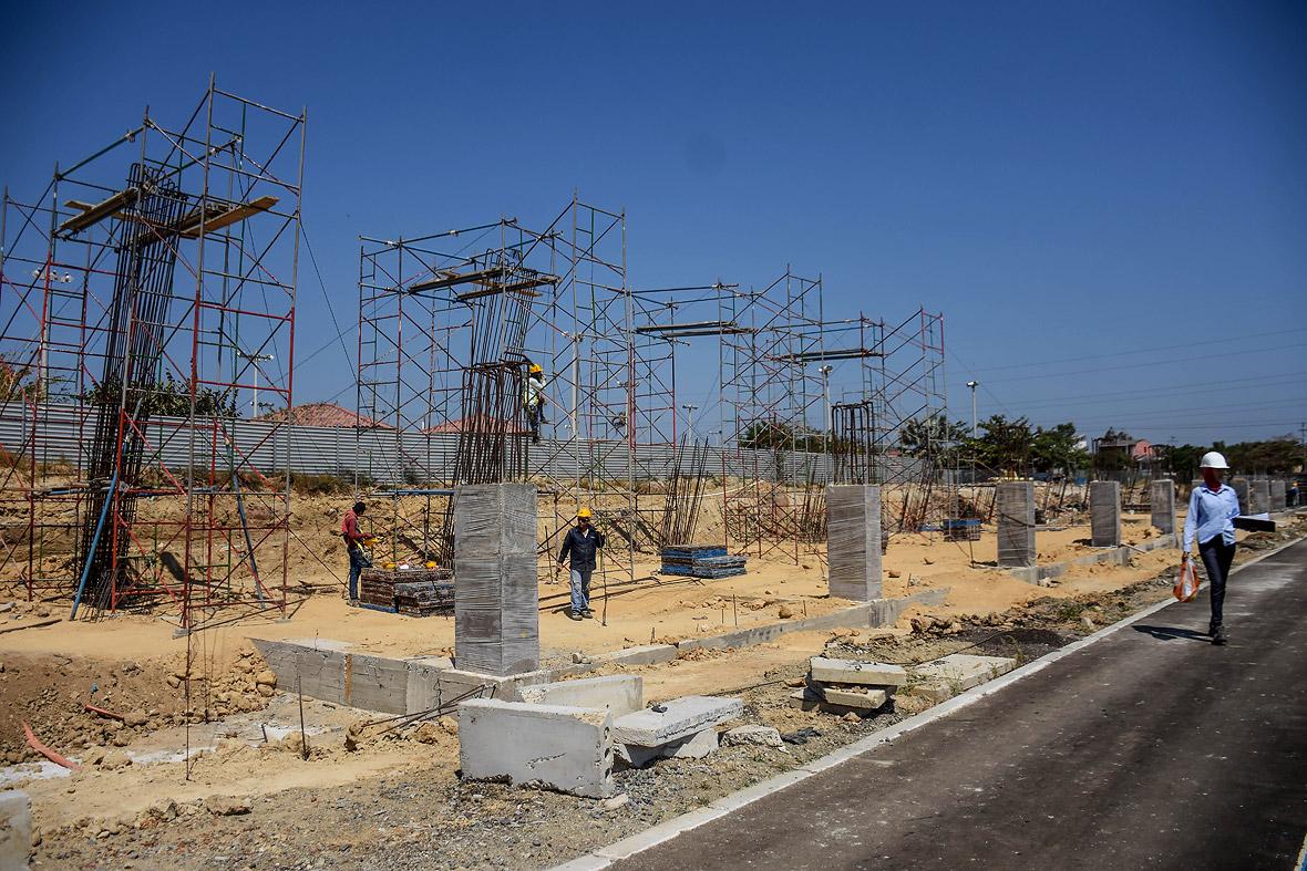 Aquí se construirá la tribuna occidental y las oficinas del escenario deportivo.
