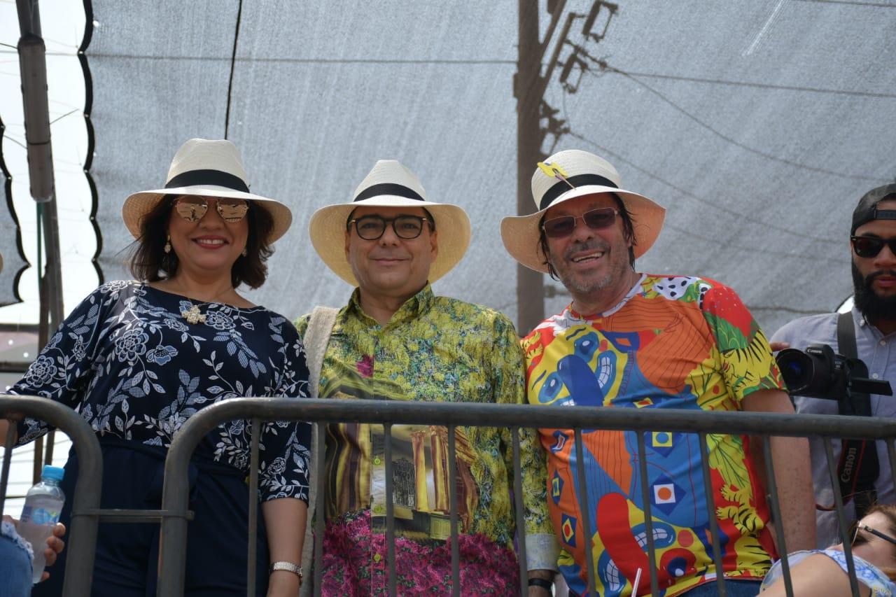 Margarita Cedeño, José Antonio Segebre y César Lorduy.