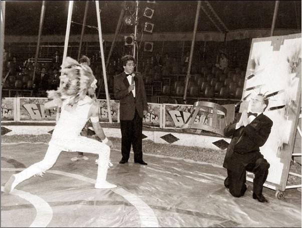 Con Garzón hizo varios especiales como este con el circo de 'Los Hermanos Gasca'.