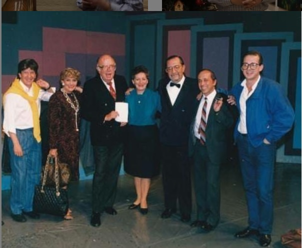 Compartió pantalla con Hernán Orjuela, Gloria Valencia de Castaño, Saul García, Judith Sarmiento, Pacheco, Alfonso Lizarazo y Jota Mario.