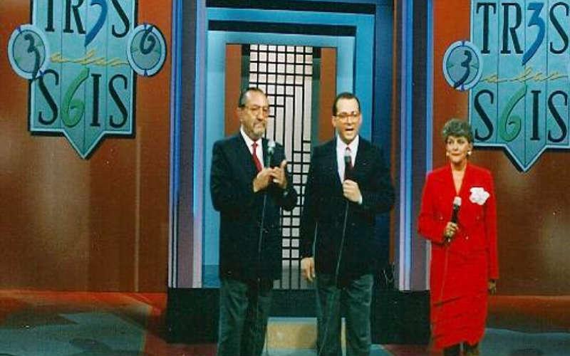 Jota Mario en el programa 'Los tres a las seis' con Fernando González 'Pacheco y Gloria Valencia de Castaño.