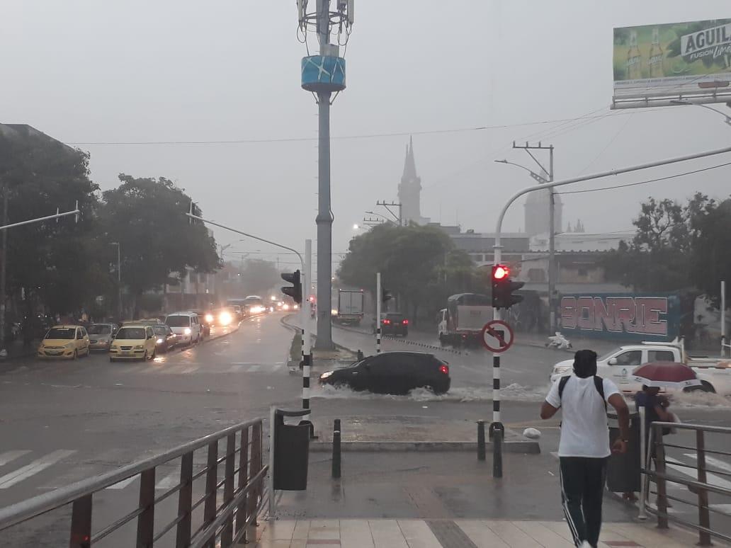 Lluvia registrada en cercanías de la Murillo con 27.