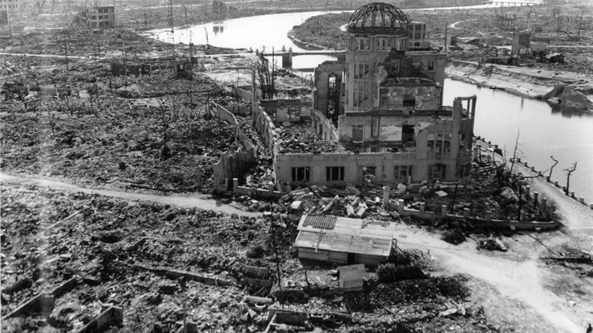 Hiroshima después del bombardeo.