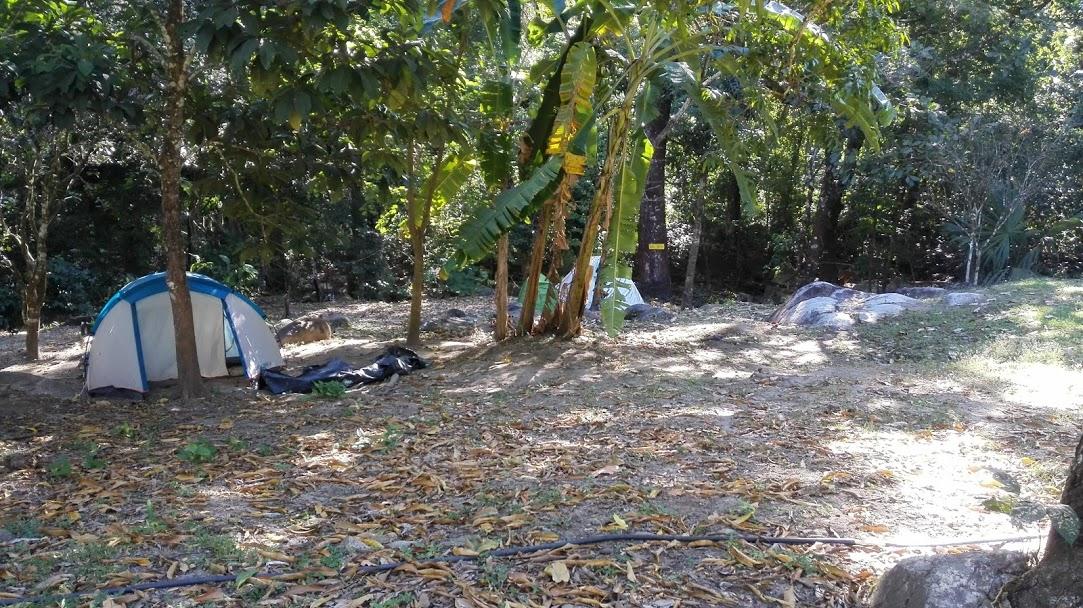 uristas acampan en el Paso del Mango.