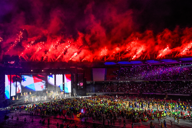Instante de la ceremonia de clausura de los Juegos.