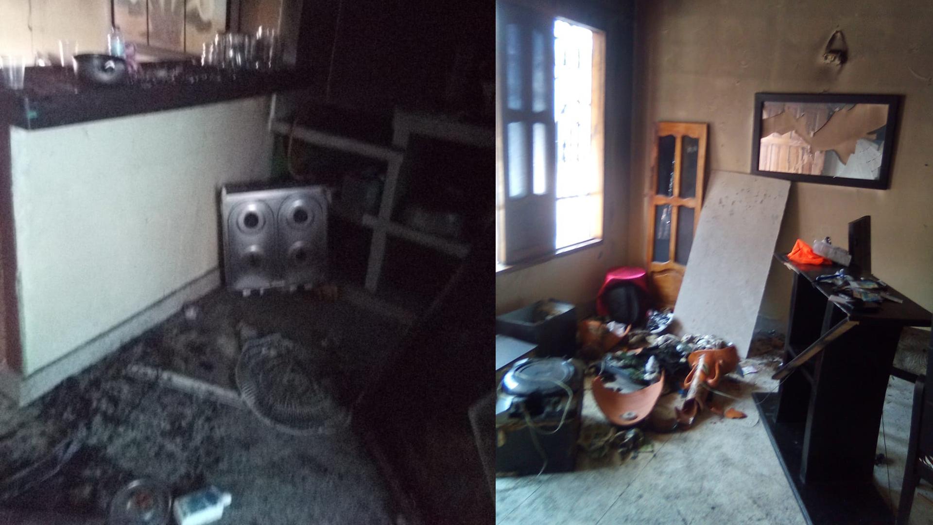 Otros electrodomésticos y objetos destrozados por el presunto agresor.