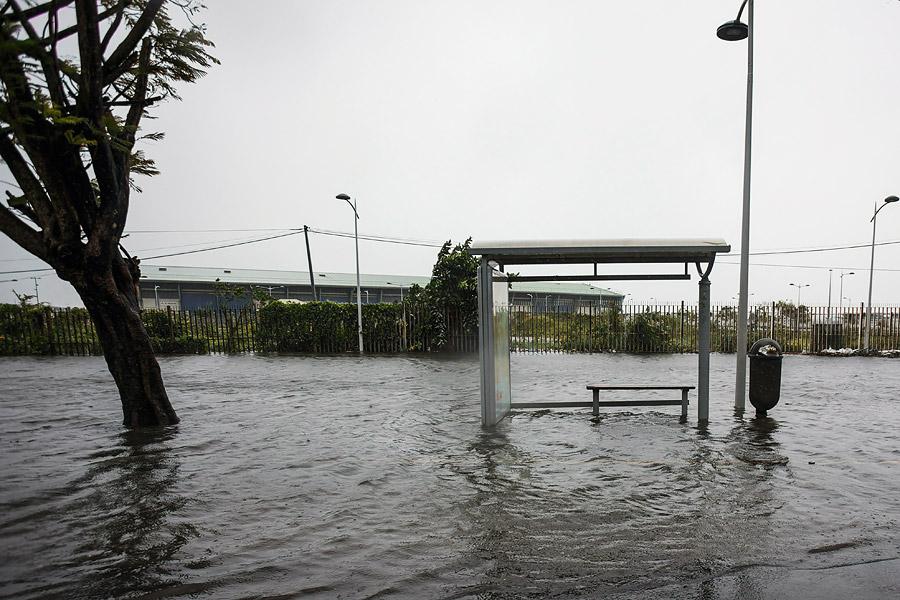 La isla de Guadalupe quedó inundada.