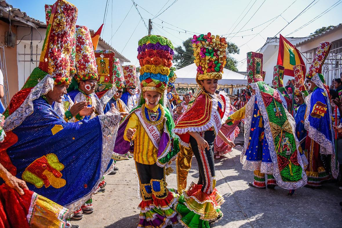 Los reyes del Carnaval de los Niños en Rebolo.