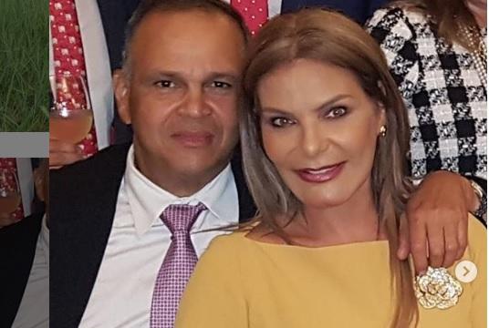 José Guillermo Hernández y la exreina Maria Mónica Urbina.