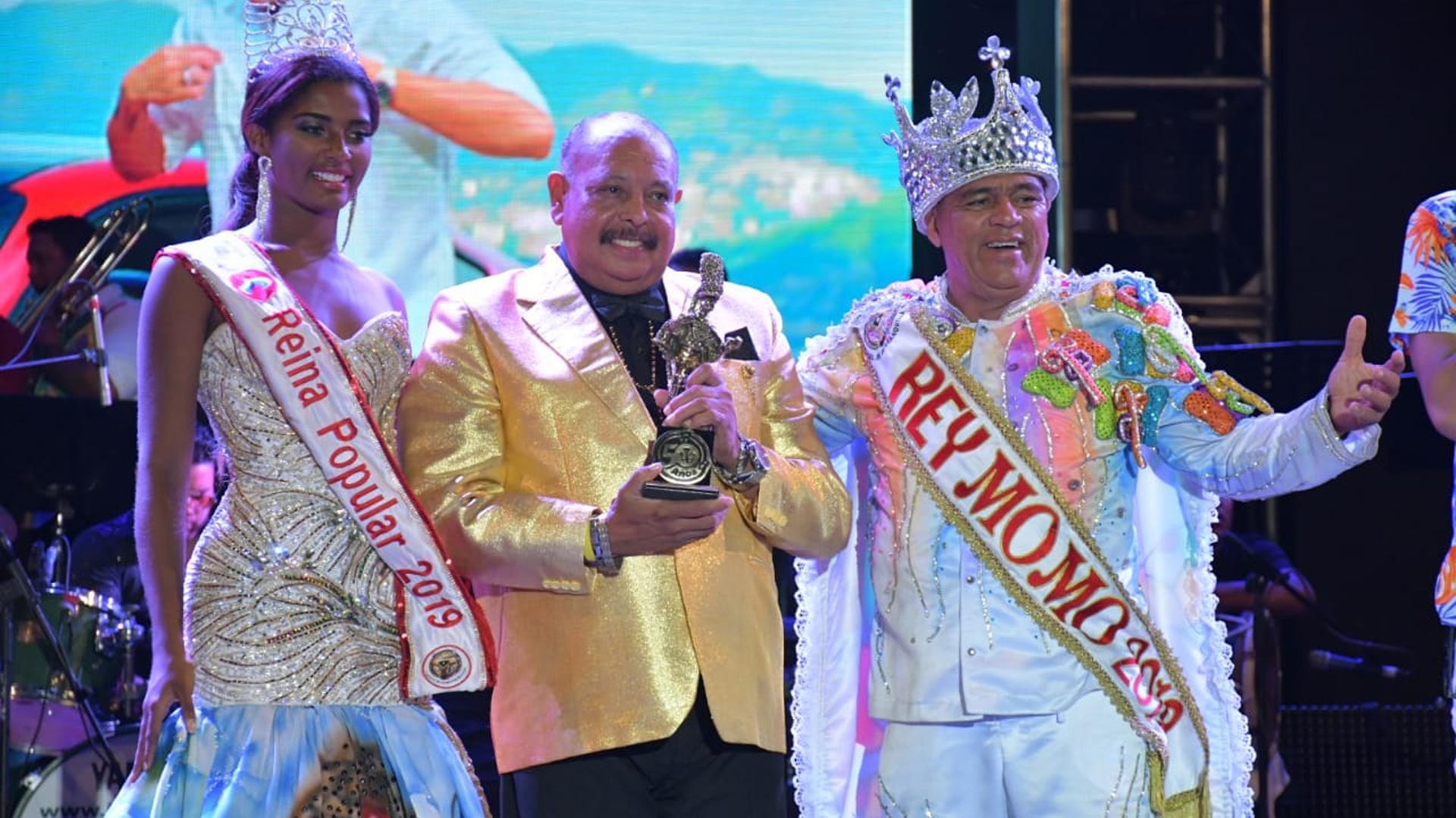 Juan Piña fue otro de los galardonados con el Congo de Oro.
