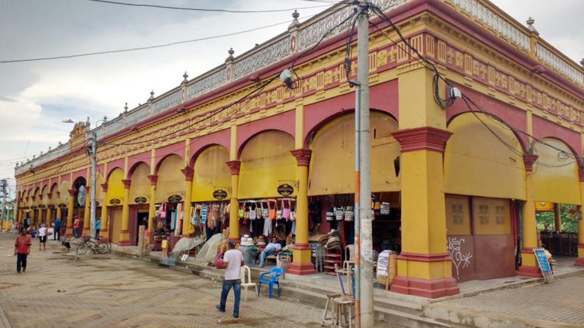El mercado, una de sus zonas turísticas.