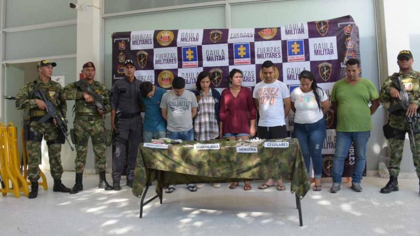 Presuntos integrantes de 'Los Domiciliarios'.