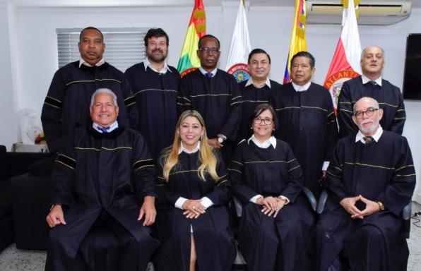 Los magistrados de la Sala Plena del Tribunal Superior del Distrito de Justicia de Barranquilla.