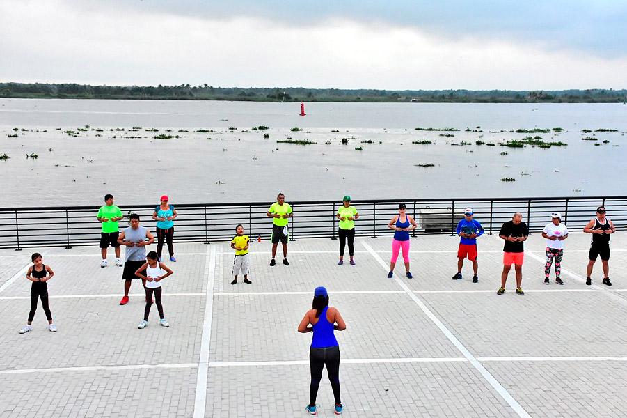 Los amantes de los deportes fueron masivamente el domingo al Gran Malecón.