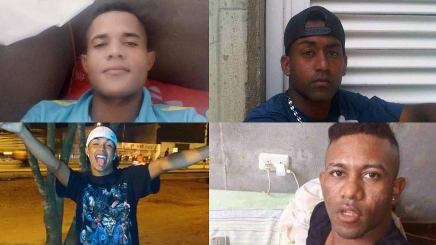 Las cuatro personas asesinadas.