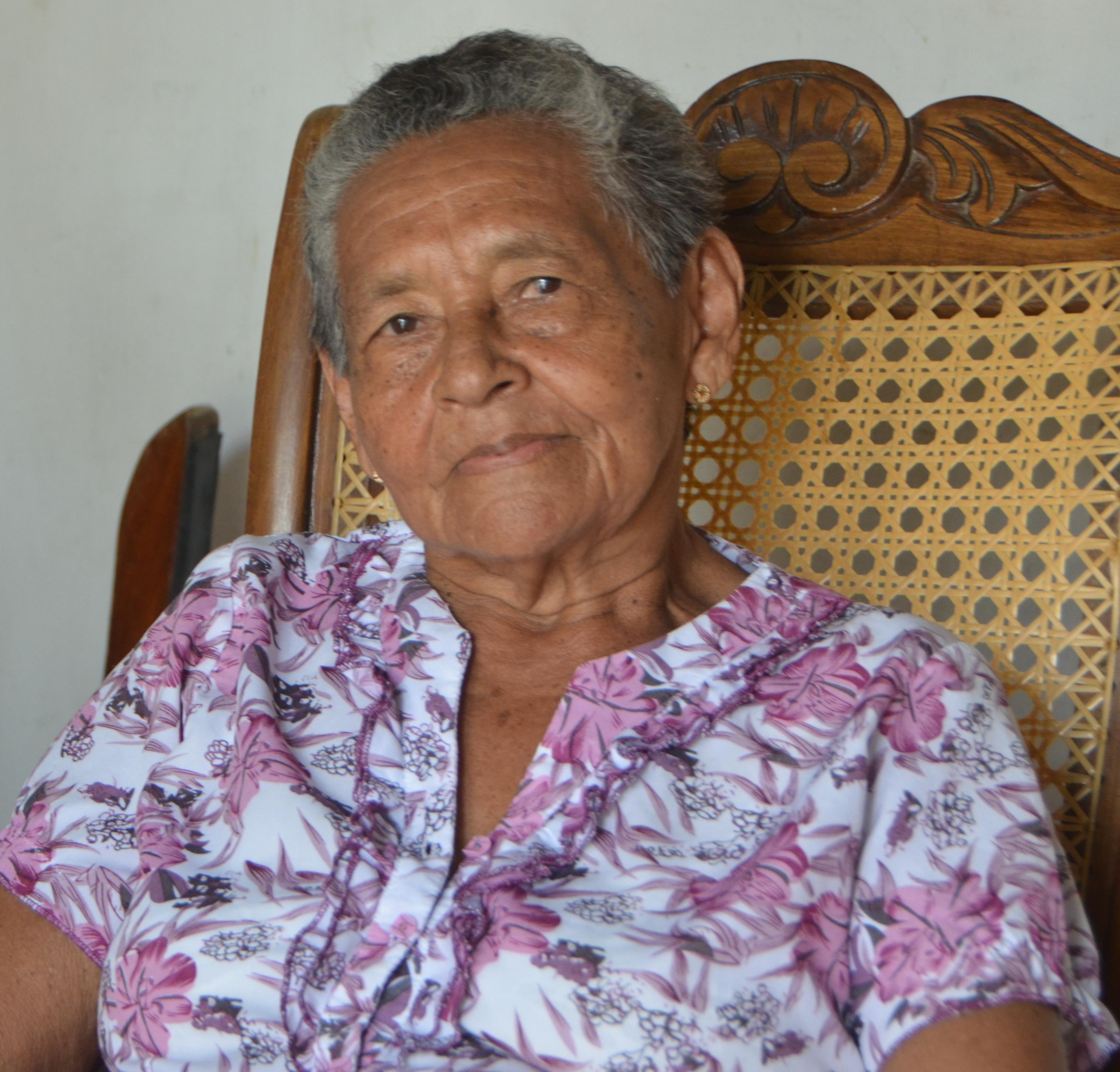 Mercedes Salom Oviedo, viuda del 20 de Enero.