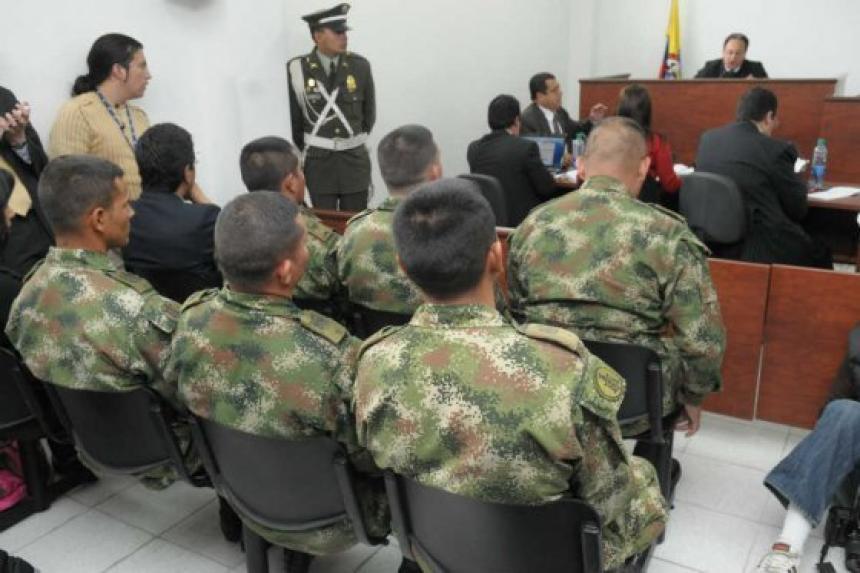 Aspecto de una de las audiencias de los militares realizada en la ciudad de Valledupar.