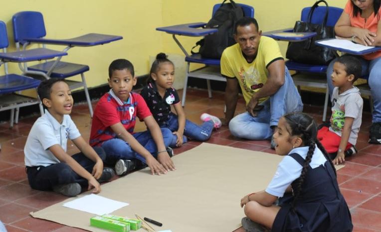 El Bienestar incluyó juegos y pedagogía.