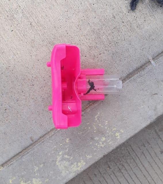 El juguete que ocasionó la alarma por parte de la Policía Metropolitana.