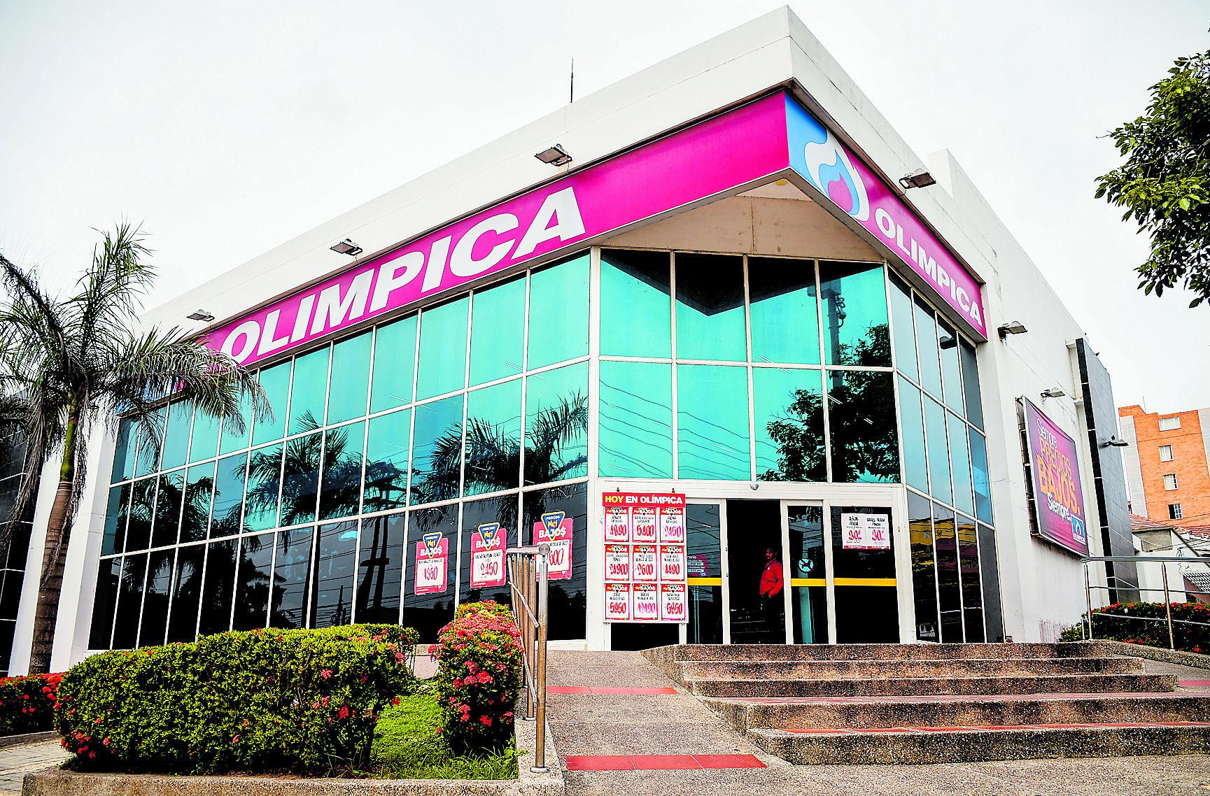 Fachada de Supertiendas y Droguerías Olímpica en la ciudad de Barranquilla.