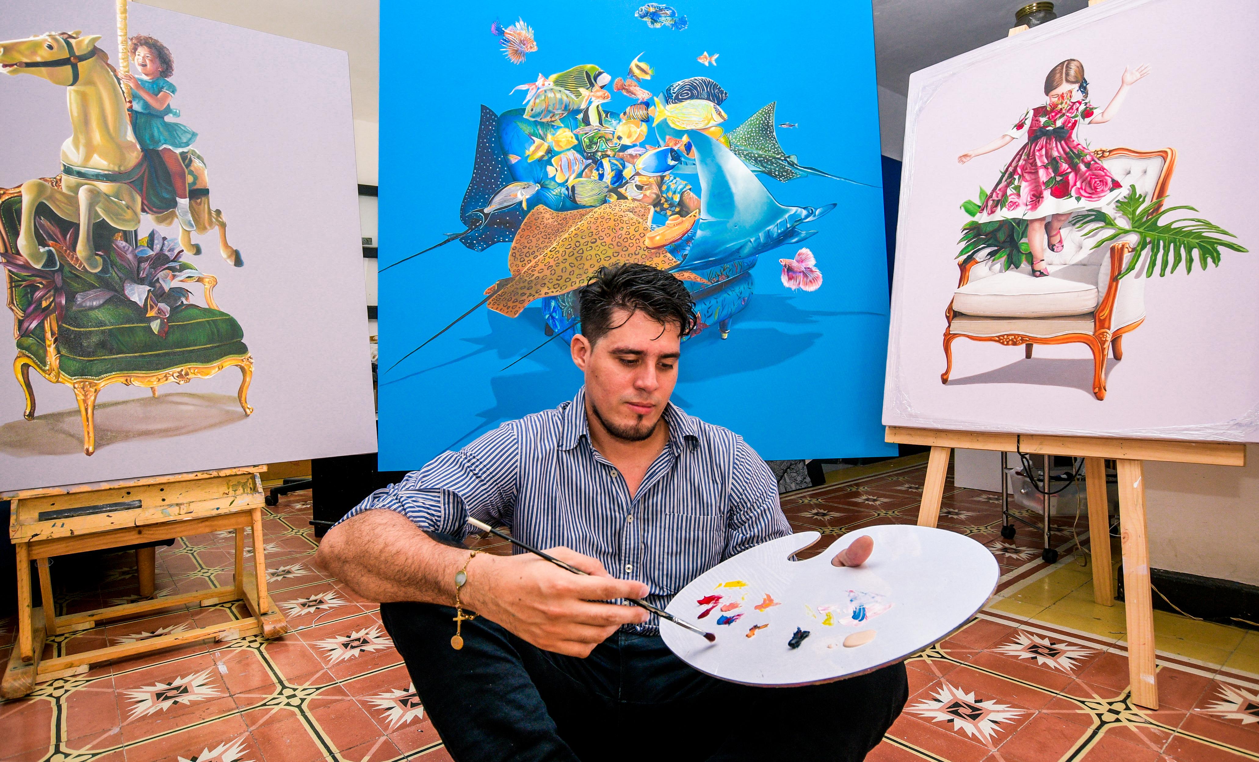 El artista barranquillero Omar Mendoza.