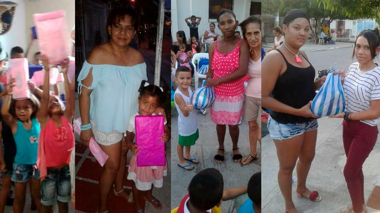Entrega de juguetes y comida a los más necesitados. Jornada liderada desde hace 15 años Patricia Fernández y un grupo de amigos.