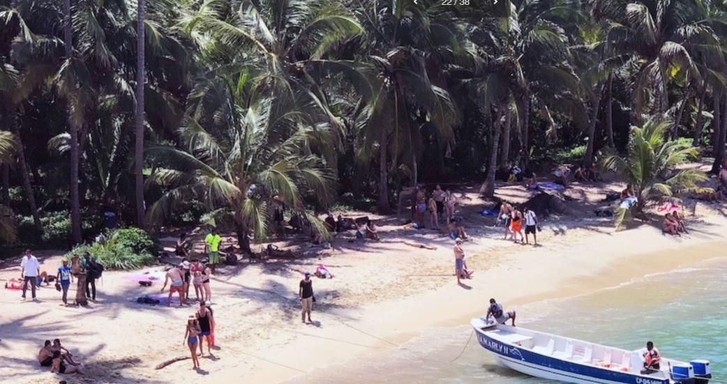 Playa Cabo San Juan Guía, una de las de mayor demanda en el  Parque Nacional Tayrona.