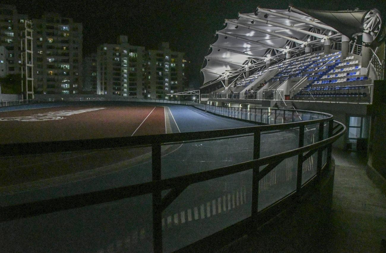 La noche del viernes el patinódromo se encontraba a oscuras.