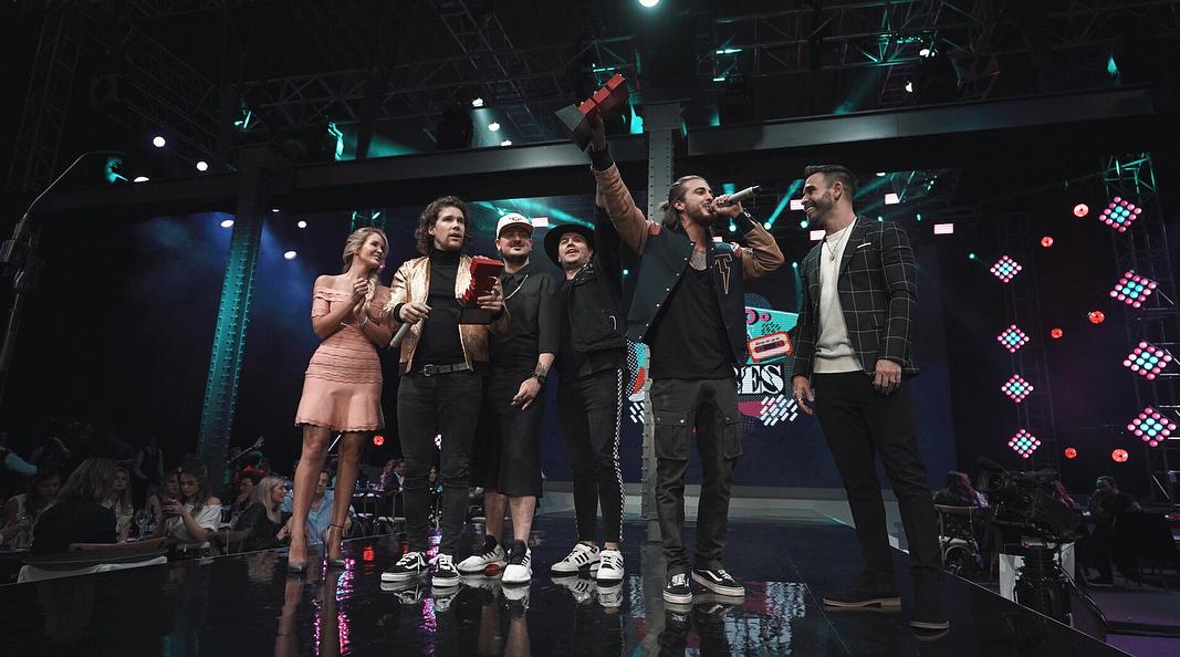 Piso 21 durante la entrega de los Premios Eres, celebrados en México.