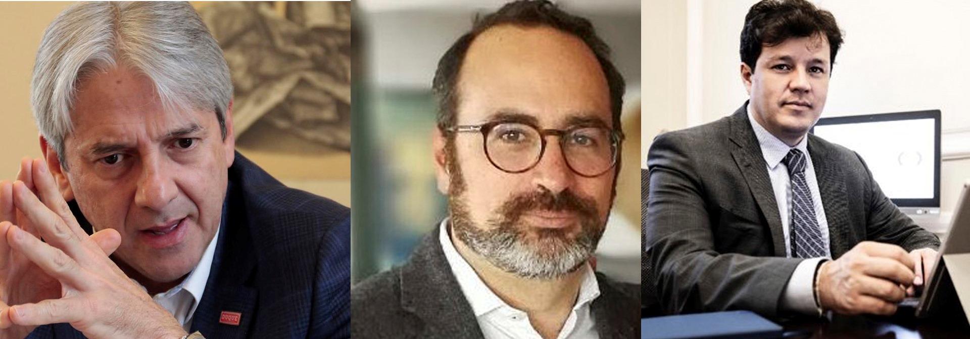 Jaime Amín, Alberto Salas y Víctor Muñoz.
