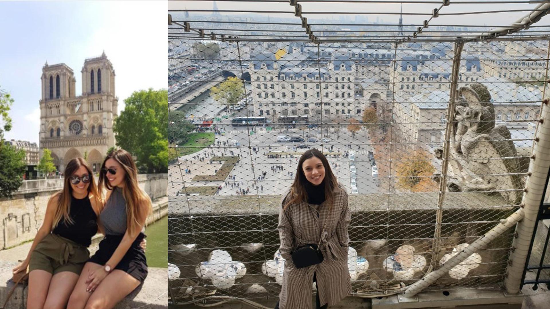 Aury lleva viviendo 4 años en Francia y suele ir todos los domingos a Notre Dame.