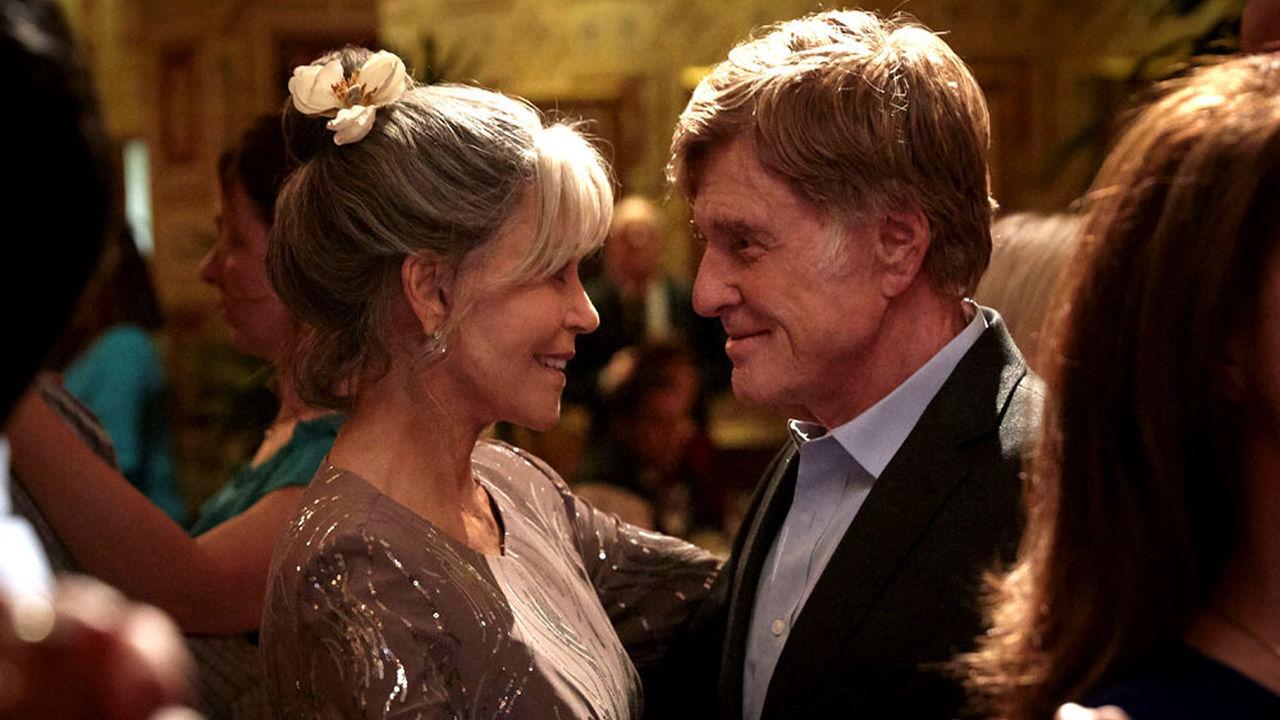 """Robert Redford con Jane Fonda en """"Nosotros en la noche"""" producida por Netflix."""