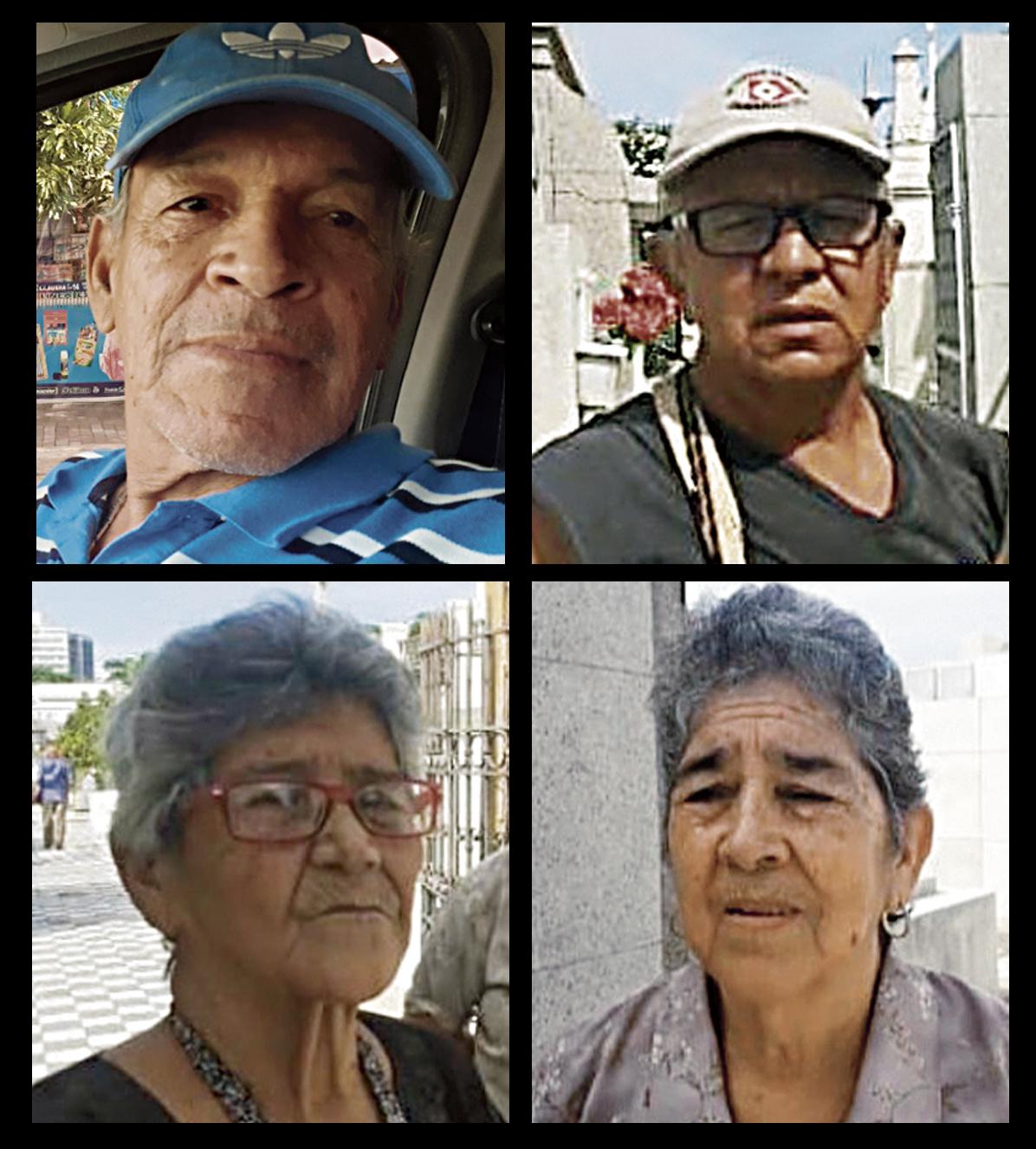 Nicolás de la Rosa, Edgardo Vives, Ilva de Pomares y Ludys de Vargas.