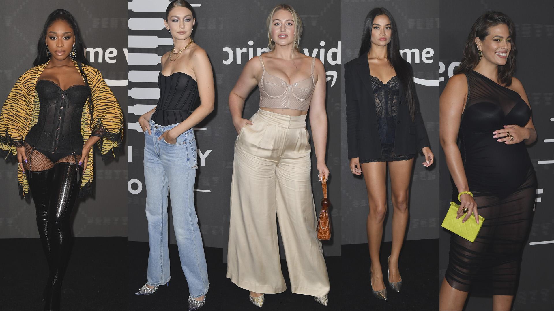 La cantante Normani, Gigi Hadid, Iskra Lawrence, Shanina Shaik y Ashley Graham, fueron algunas de las personalidades que atendieron al show.