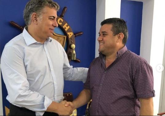 El alcalde Juan Carlos Suaza y el presidente de INASSA, Antonio Ruiz.