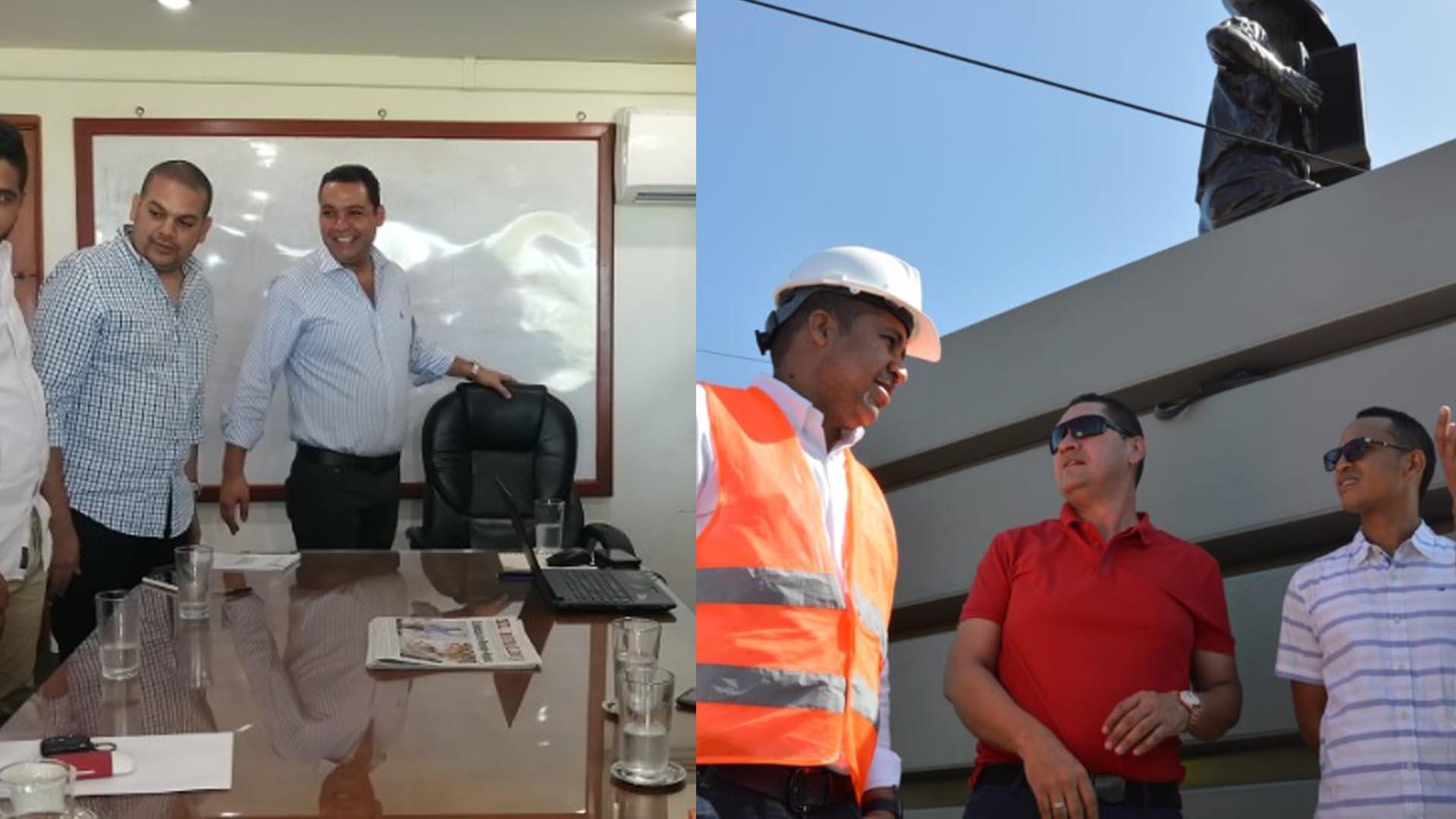 Nemesio Roys bromeó en su despacho / El alcalde José Bermúdez en la glorieta Francisco el Hombre.