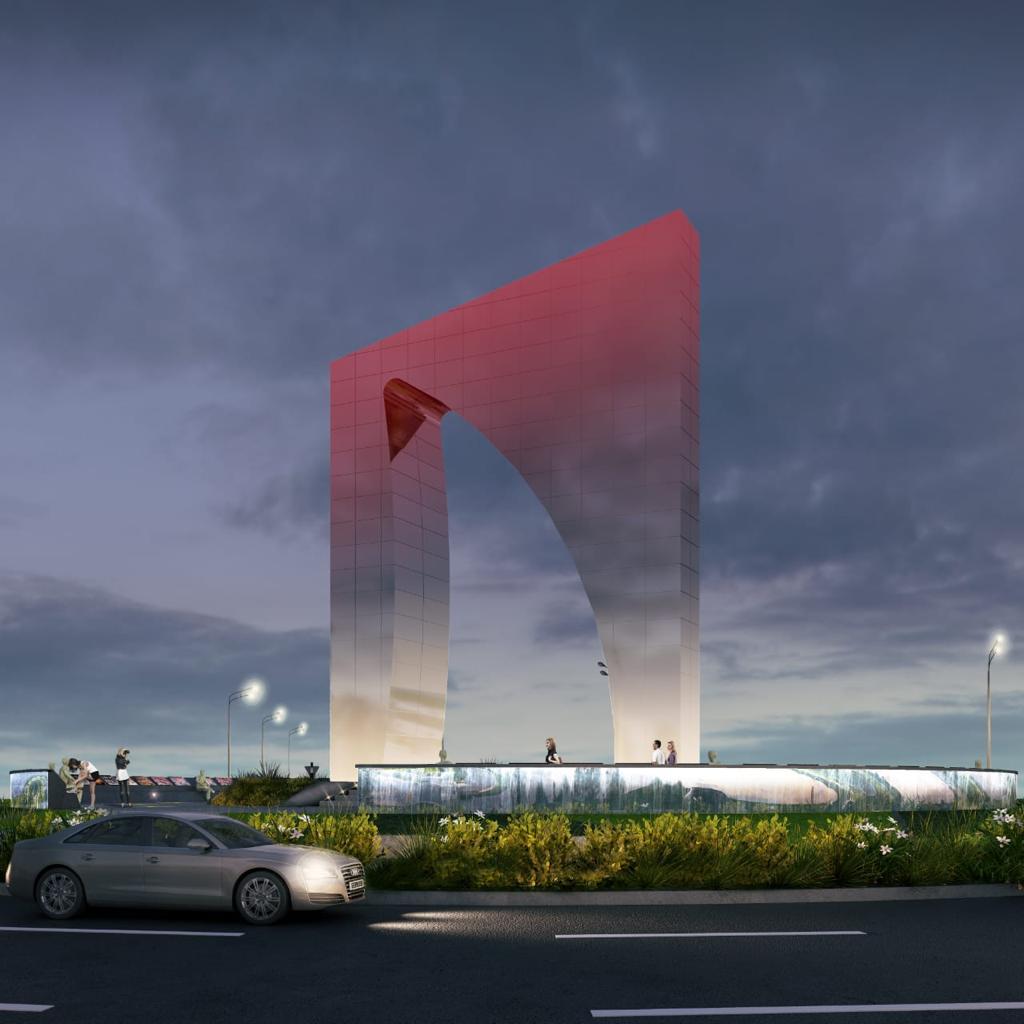 Aspecto del monumento desde la rotonda de la carrera 50 con Vía 40, en donde estará ubicado.