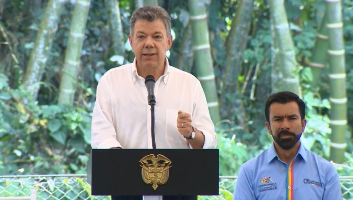 Santos durante su intervención de este lunes.