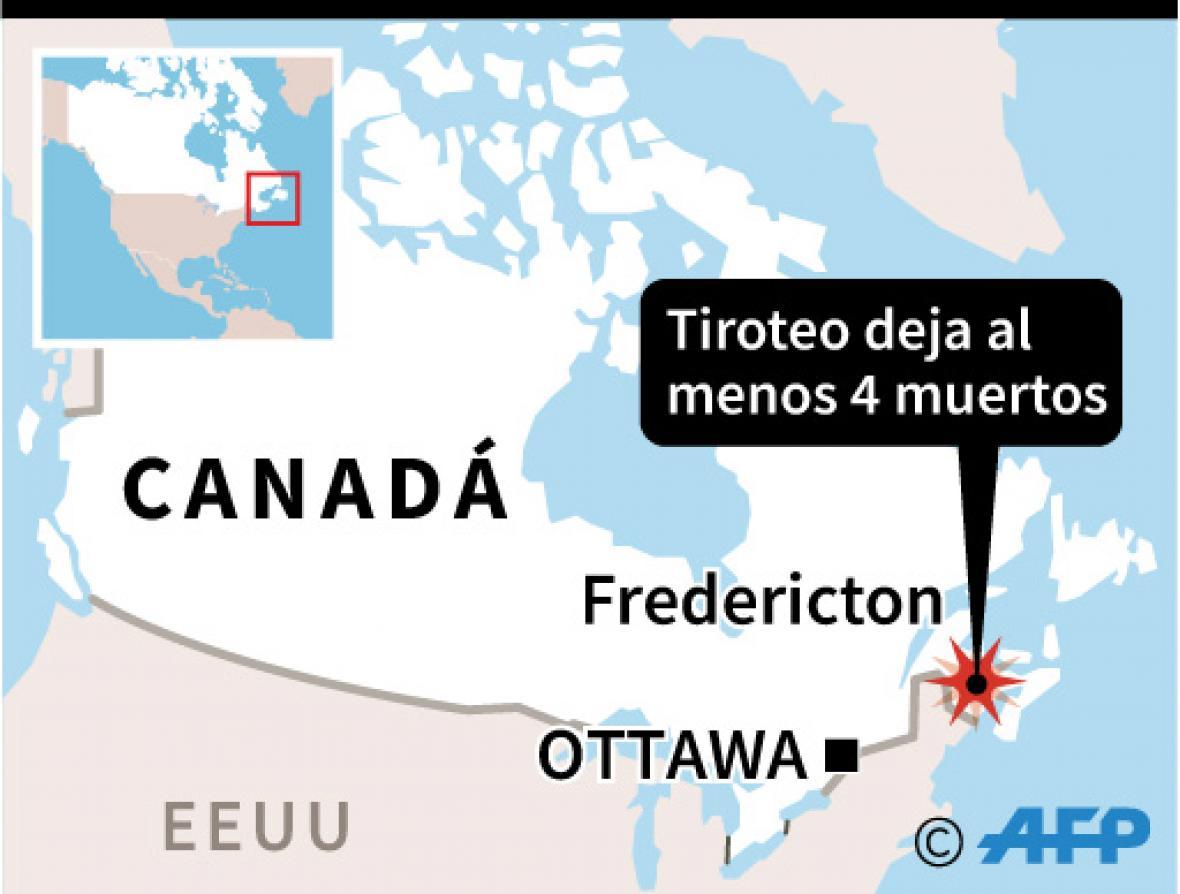 Pánico por tiroteo en Canadá, hay cuatro muertos
