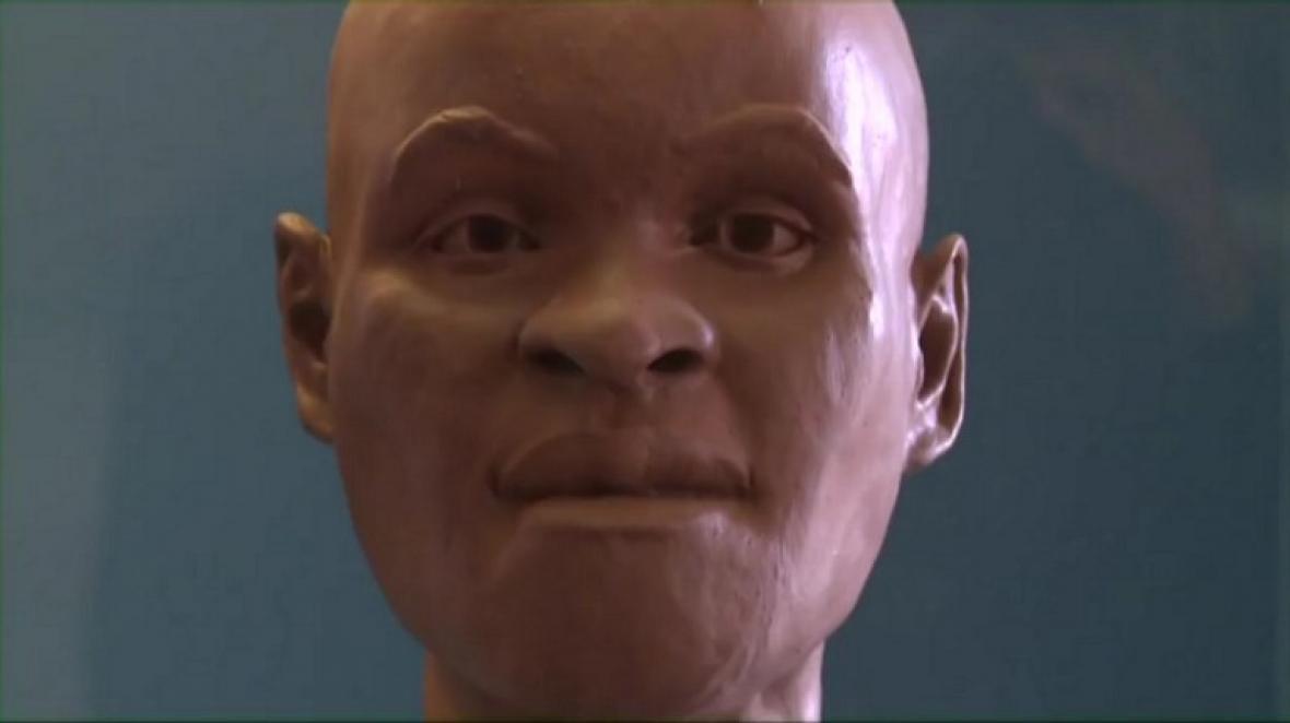 Reconstrucción de la cabeza de 'Luzia', uno de los fósiles humanos máss antiguos de toda América.