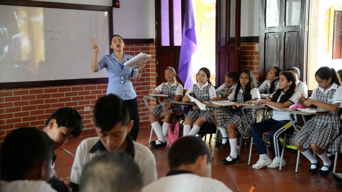 Laura Diosa, docente de Lenguas Modernas del Instituto La Salle Barranquilla.