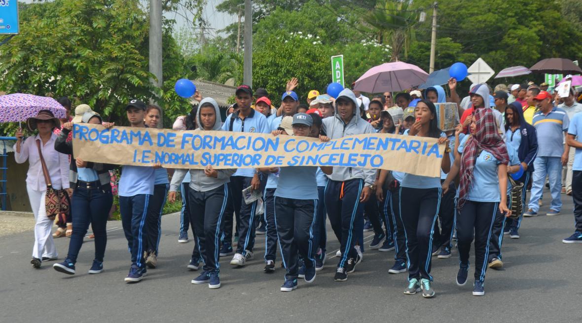 Los estudiantes también protestaron.