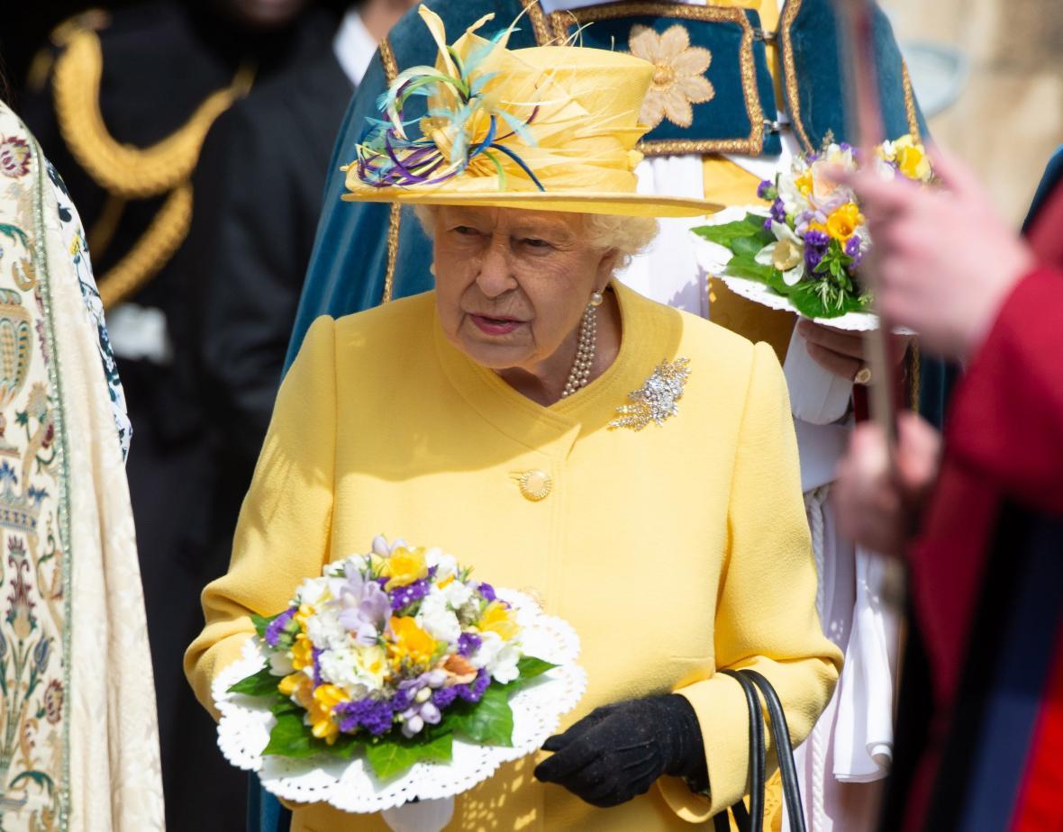 La reina Isabel II durante su cumpleaños.