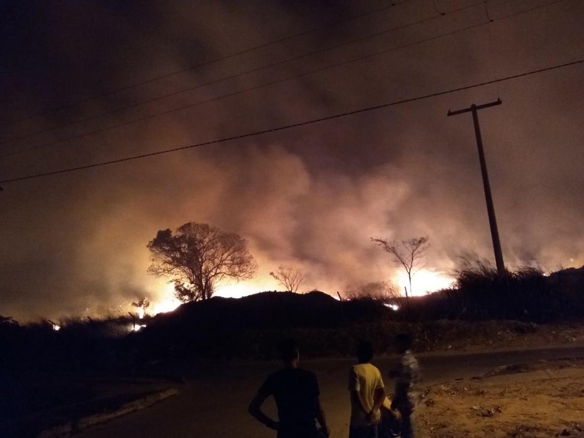 Incendios en cerros de Valledupar.