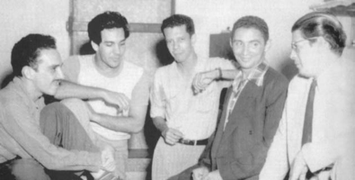 Gabriel García Márquez, Álvaro Cepeda Samudio, Alfredo Delgado, Rafael Escalona y Alfonso Fuenmayor.