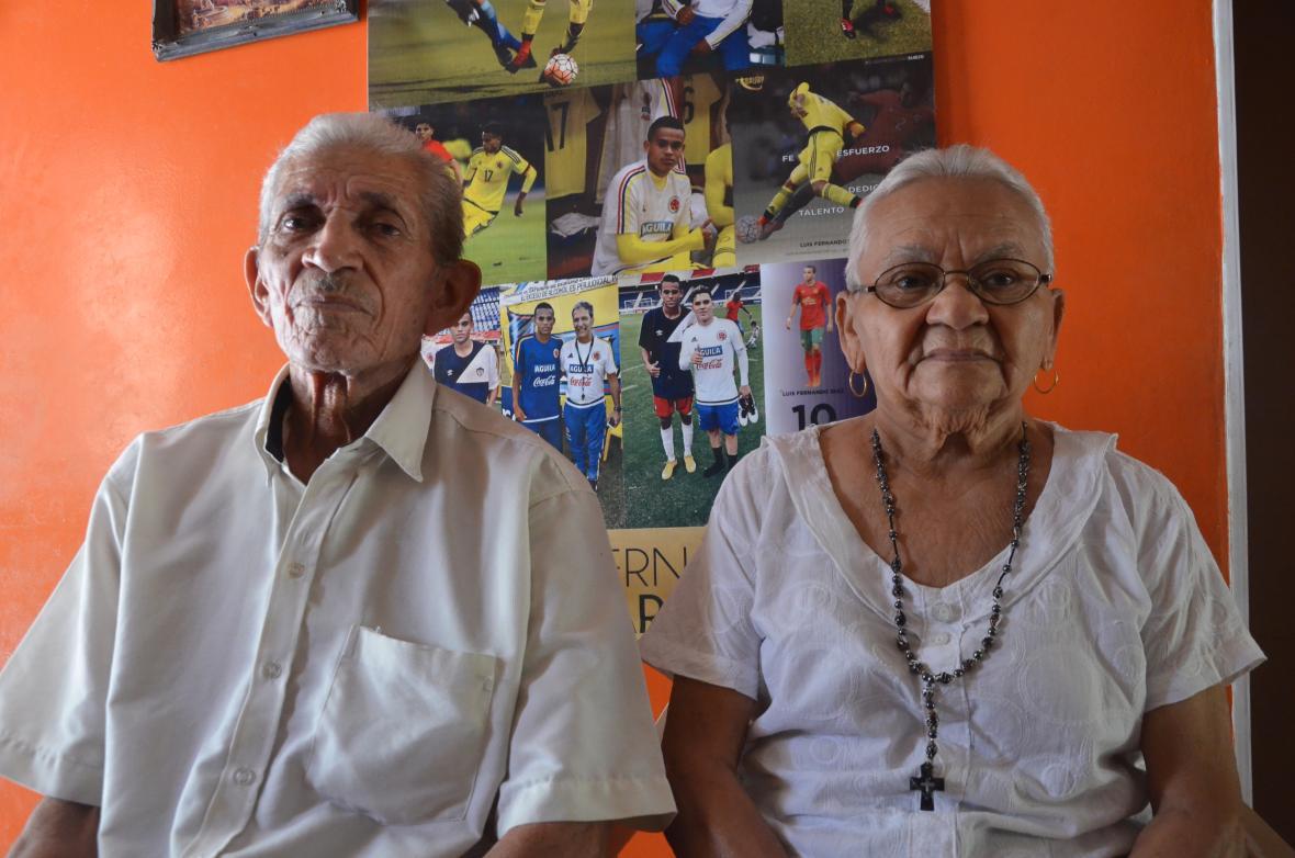 Los abuelos de Luchito, Jacob Díaz y Rosaura Jiménez.