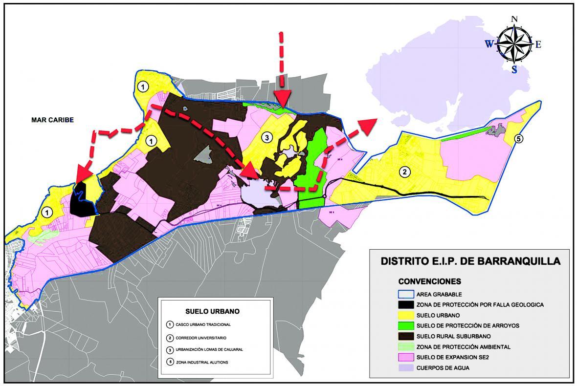 El mapa muestra la zona donde se hará el cobro de valorización.