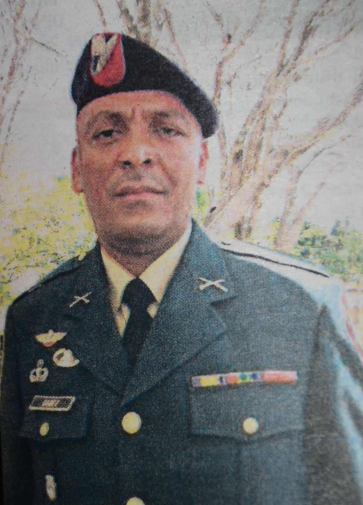 Julio Eliécer Gámez, sargento del Ejército asesinado.