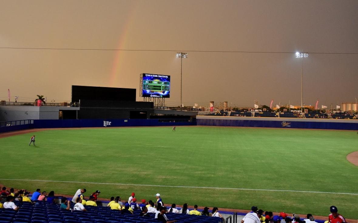 El juego tuvo que ser suspendido por lluvia en la alta de la quinta entrada.