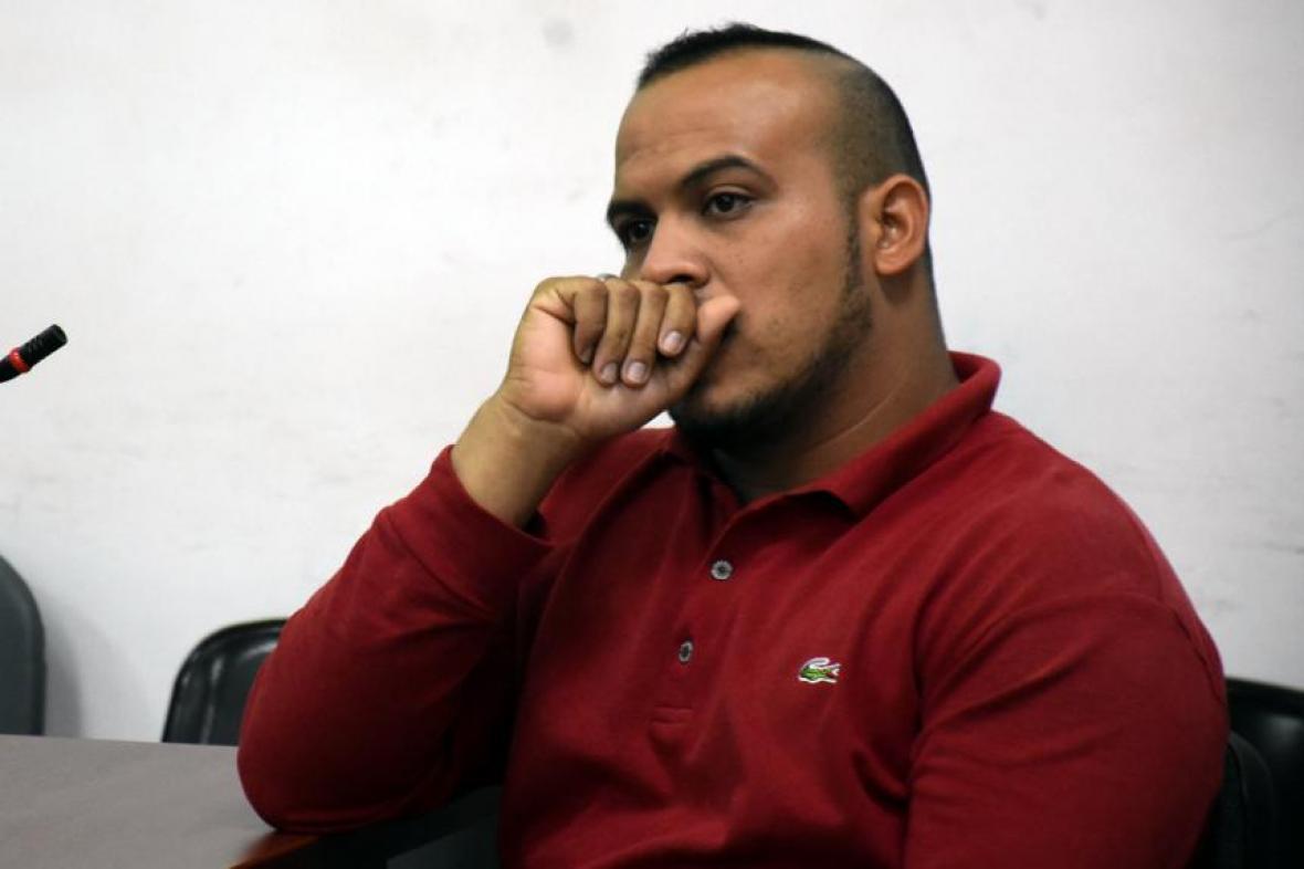 El taxista Jonathan Enrique Berdugo Bolaños, durante la audiencia.